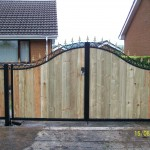 Metal and wood double gates