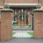 Hammered edge Garden gate