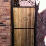 Metal and wood garden gate